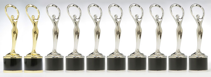 photo of 2 gold and 7 silver 2012 communicator awards