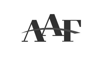 The black and white logo for the American Advertising Federation