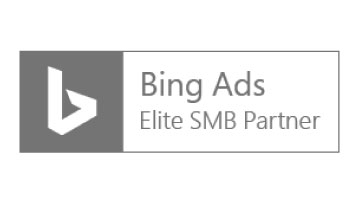 A logo that read 'Bing Ads, Elite SMB Parter'