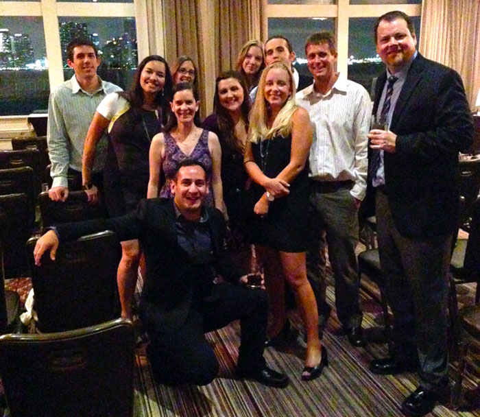 Group Photo BlackDog team at Miami Addys 2014