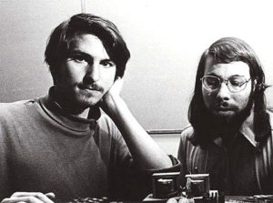 Black and White photo of Steve Jobs and Steve Wozniak