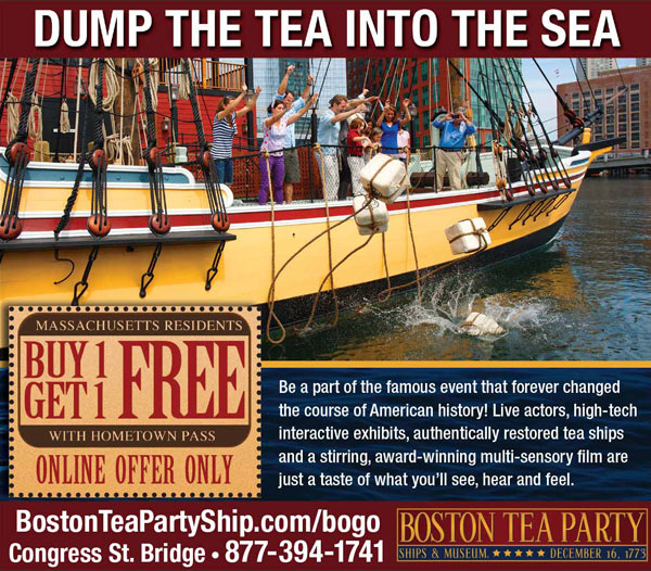 Boston Tea Party Ships Museum Print Ad