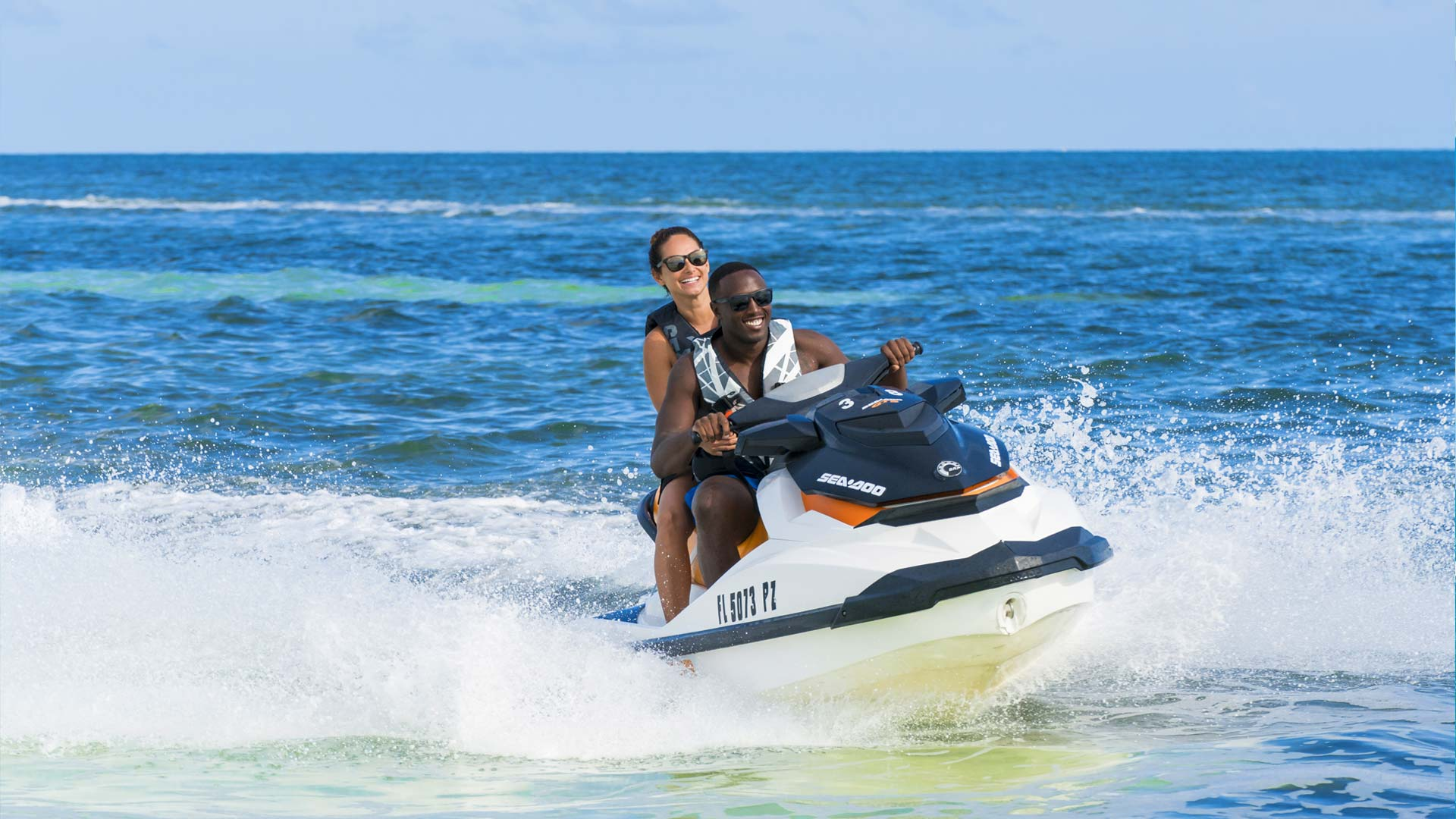 People riding Fury Water Adventures jet ski