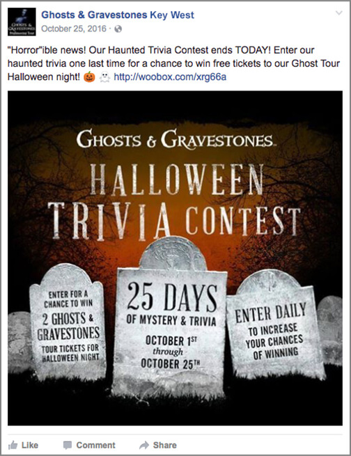 ghosts and gravestones finalized trivia facebook post