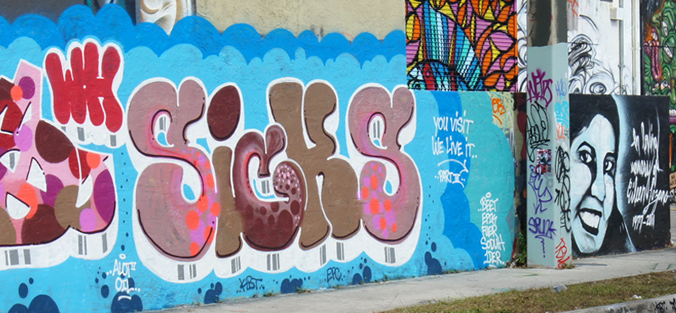 Graffiti Letters, Wall Art in Wynwood, Miami