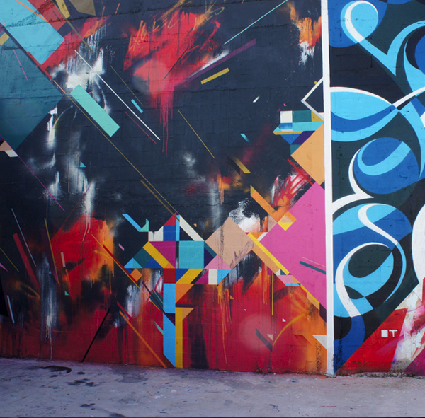 Geometric Mural in Wynwood Miami