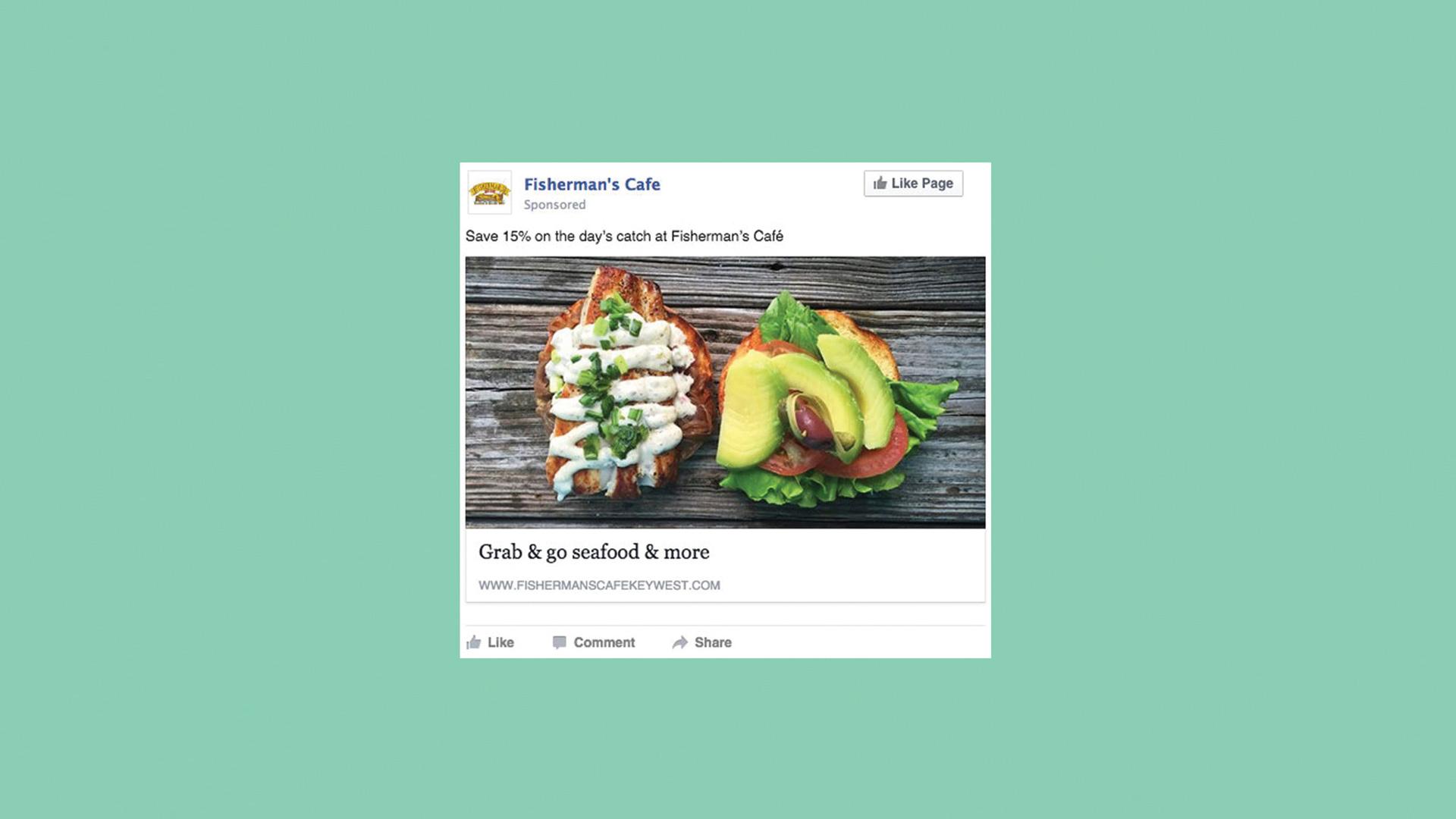 Fisherman's Cafe dish Facebook post