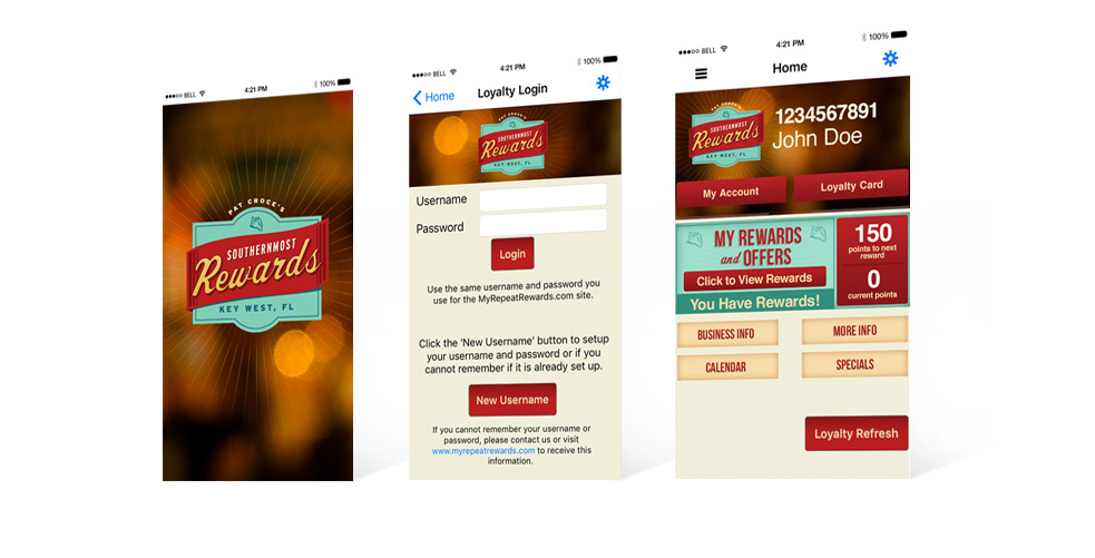 Southermost Rewards App Design