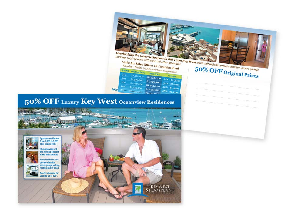 Key West Real Estate Marketing Postcards