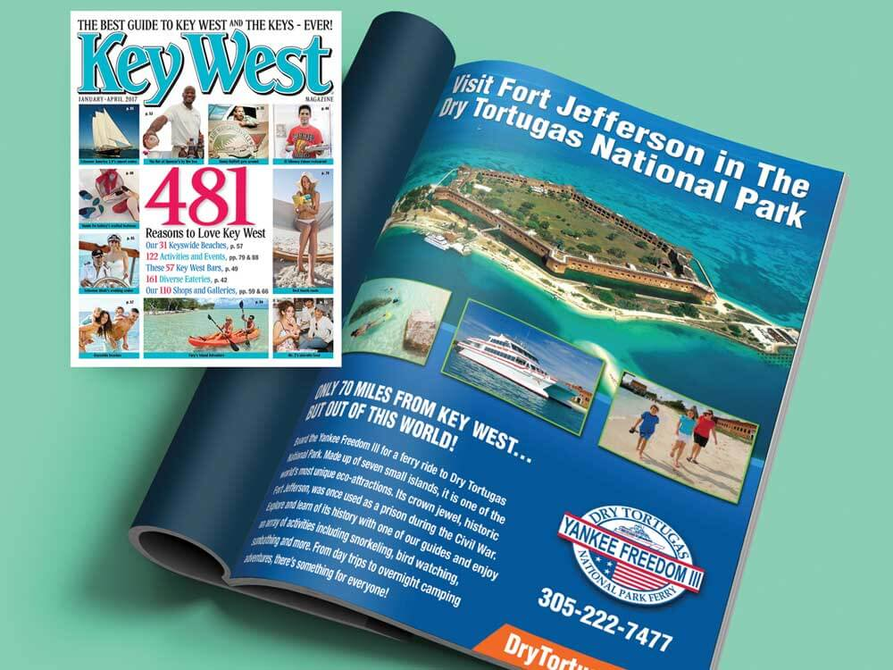 dry tortugas national park print ad in magazine