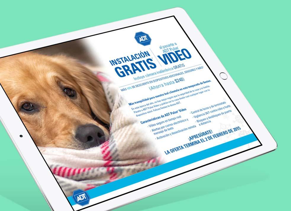 adt home security responsive website design tablet