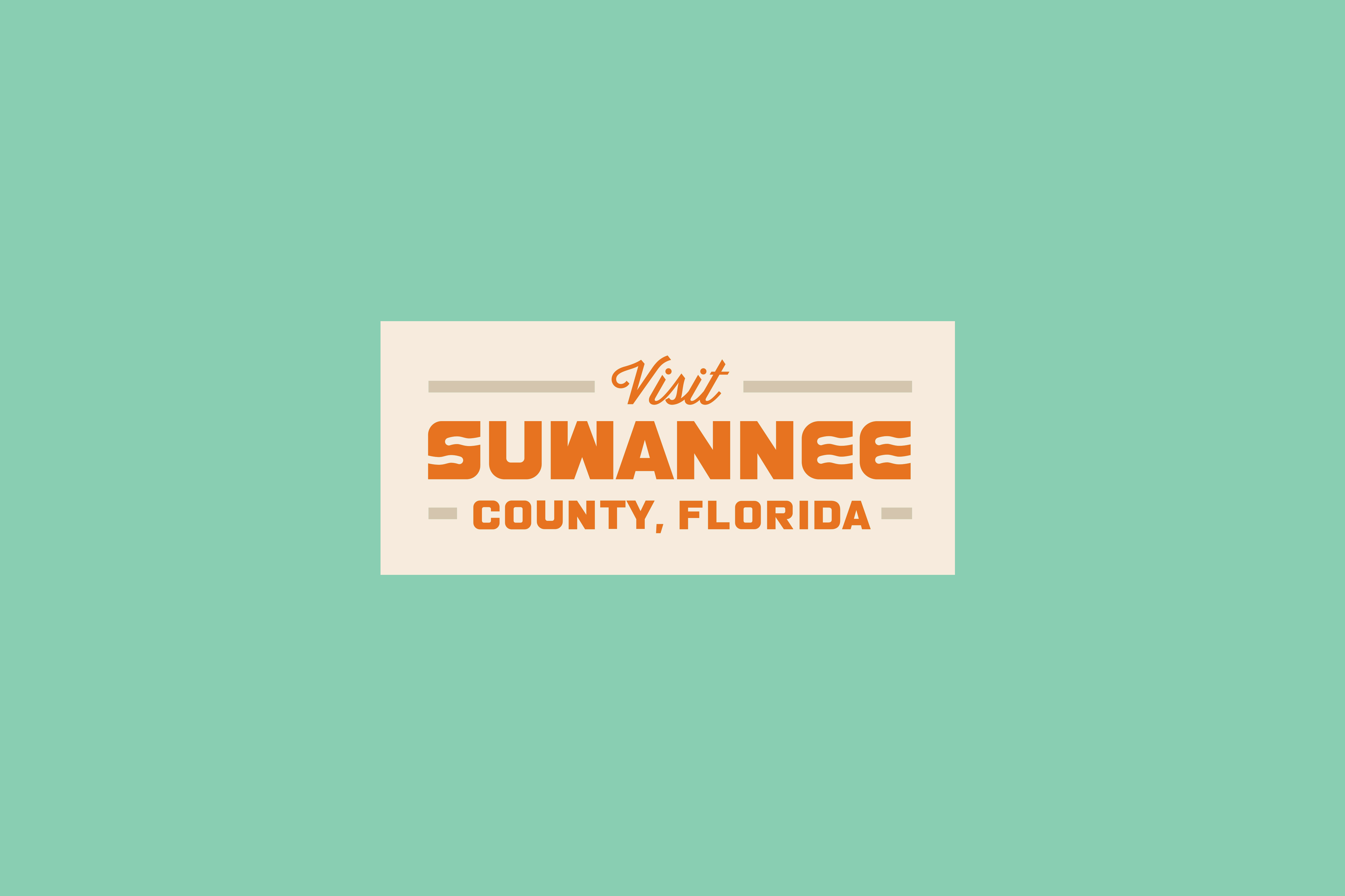 suwannee county florida typography design