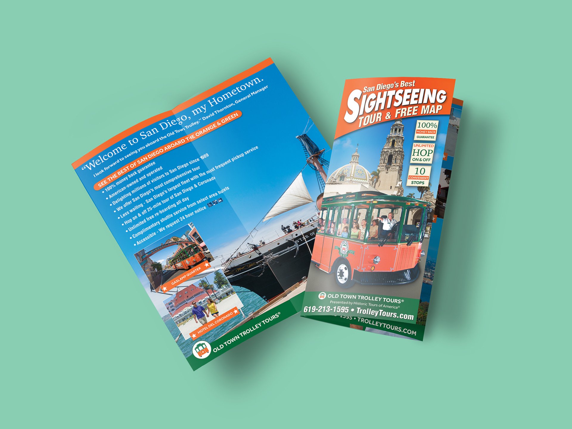 old town trolley san diego brochure