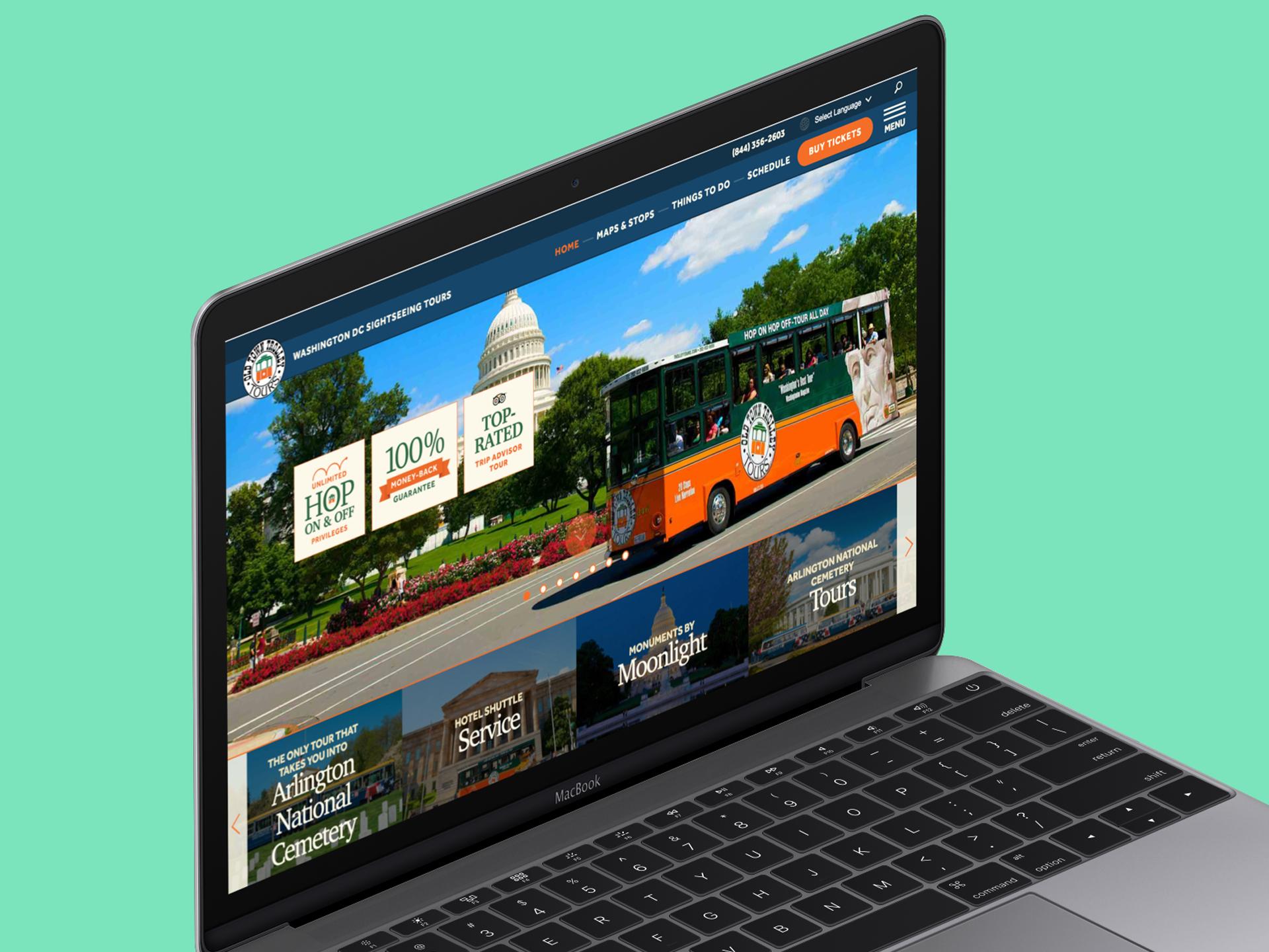 old town trolley website on macbook pro