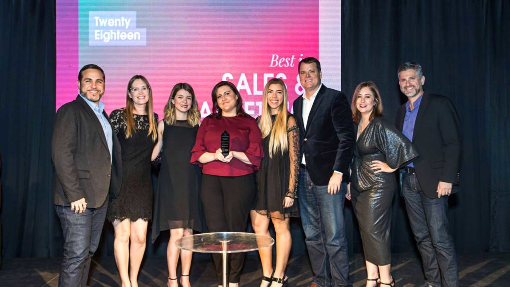 BlackDog Advertising team with the ADDY award