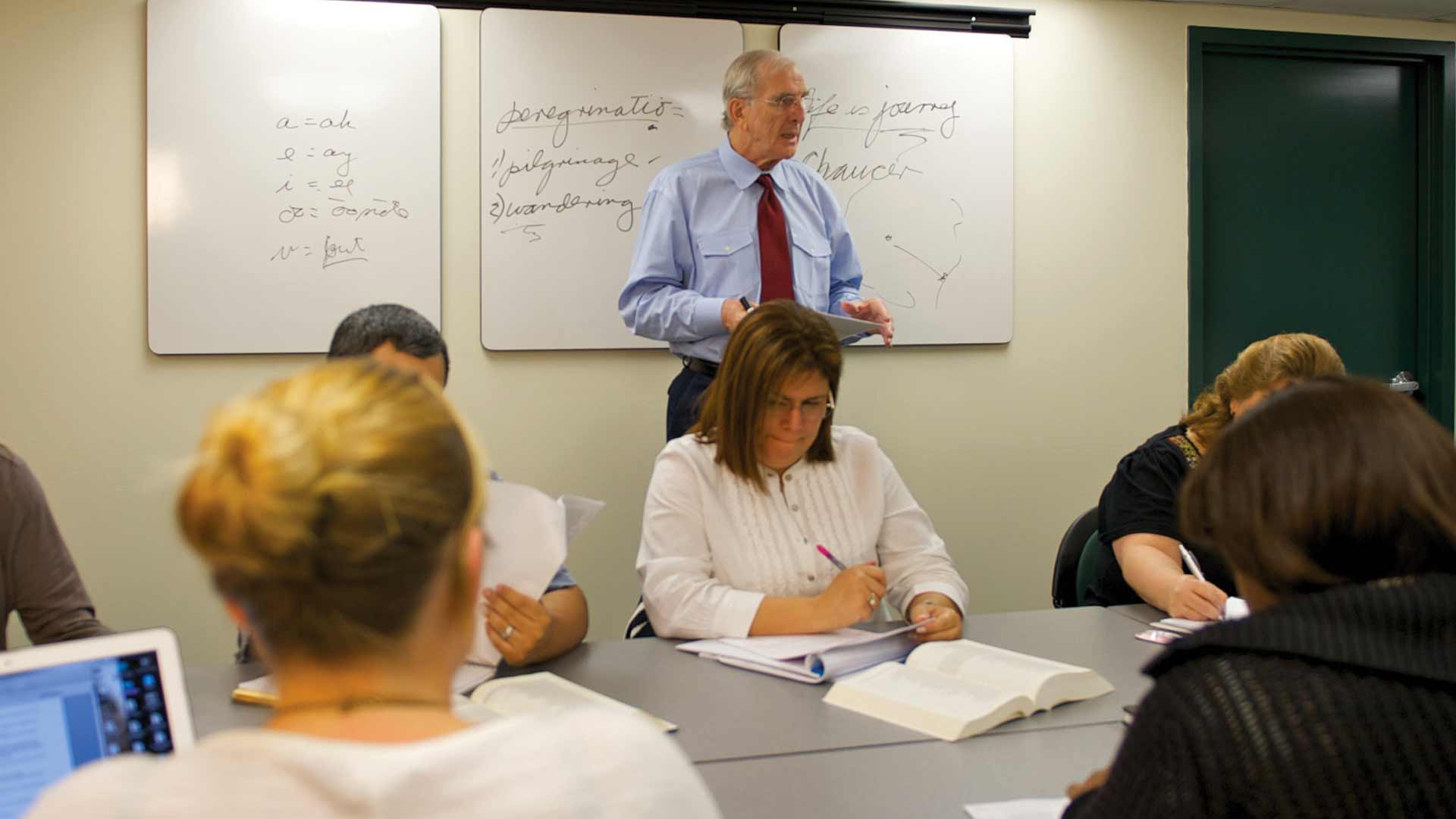 Professor Eugene Clasby Teaching Class At University of Miami