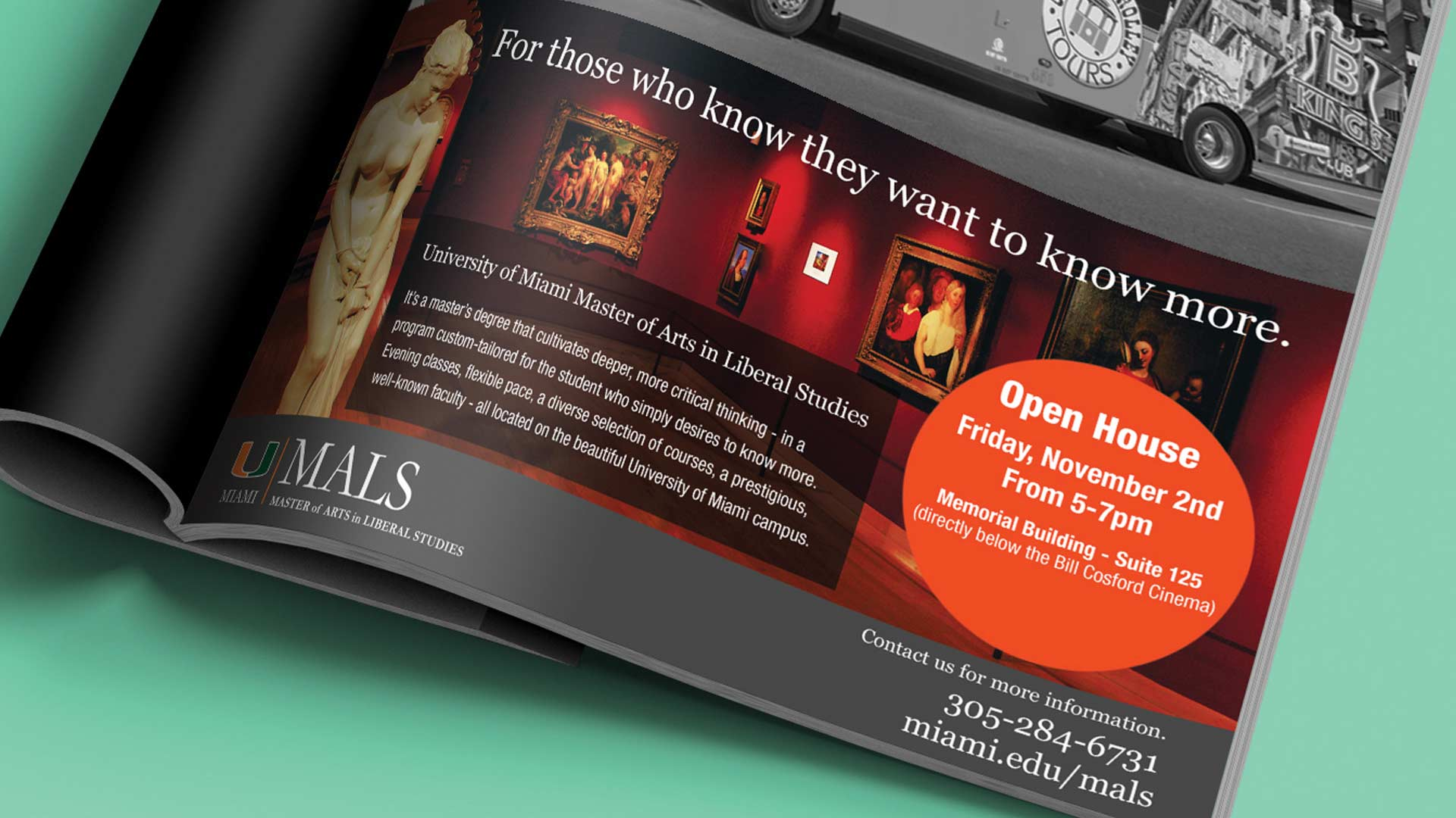 MALS Print Magazine Advertisement