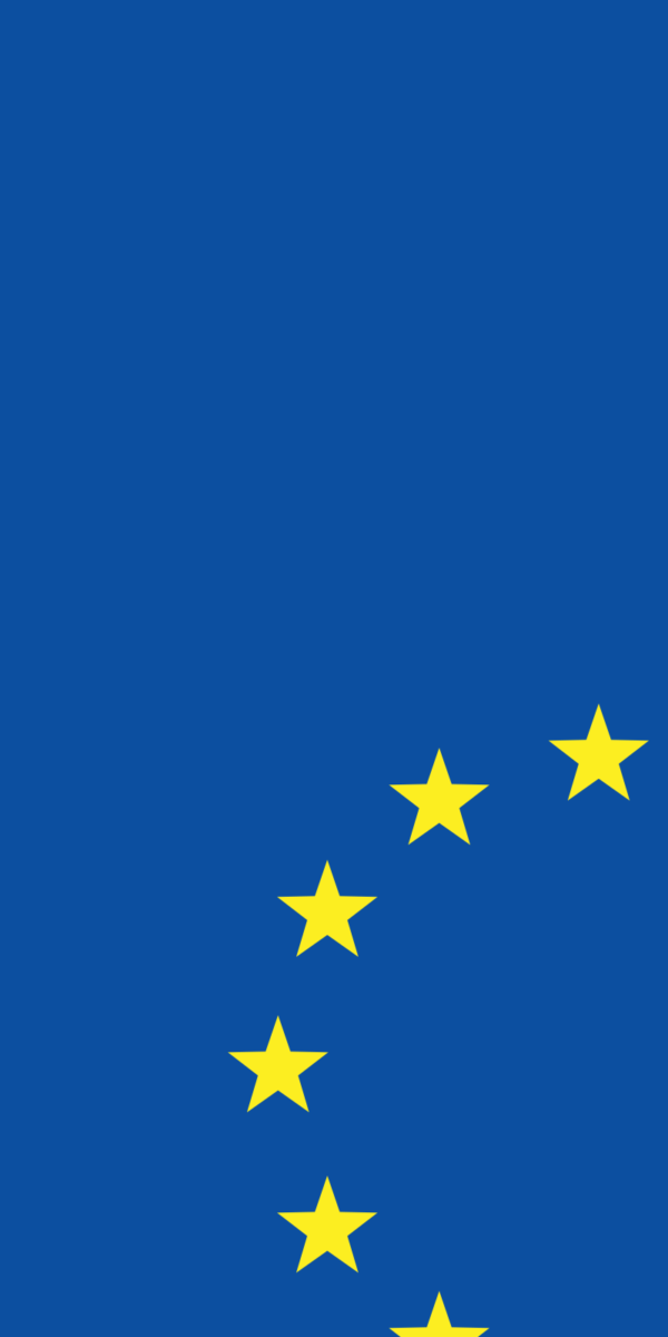 Part of the European Flag consisting of a circle of yellow stars on a blue background