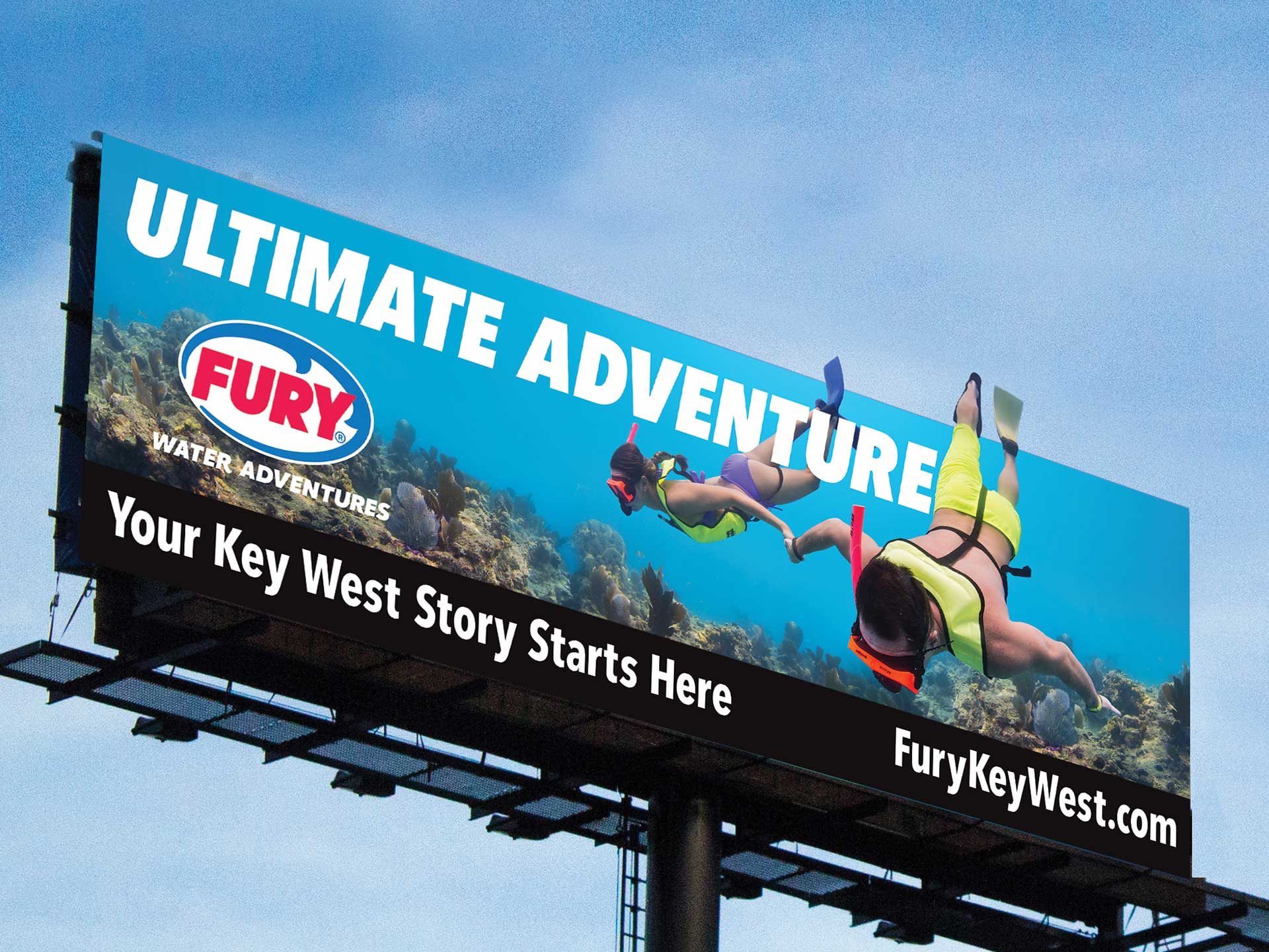 fury water adventures ultimate adventure billboard