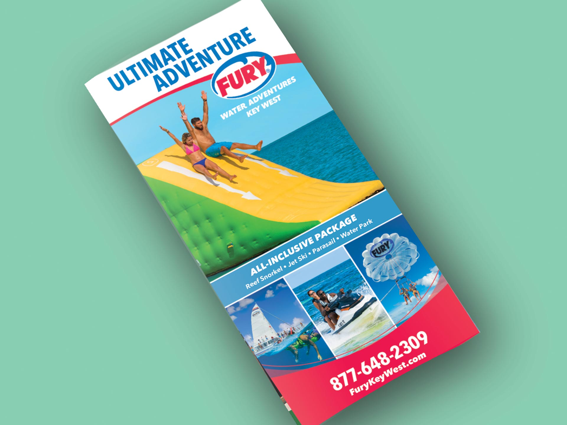 fury water adventures ultimate adventure rack card
