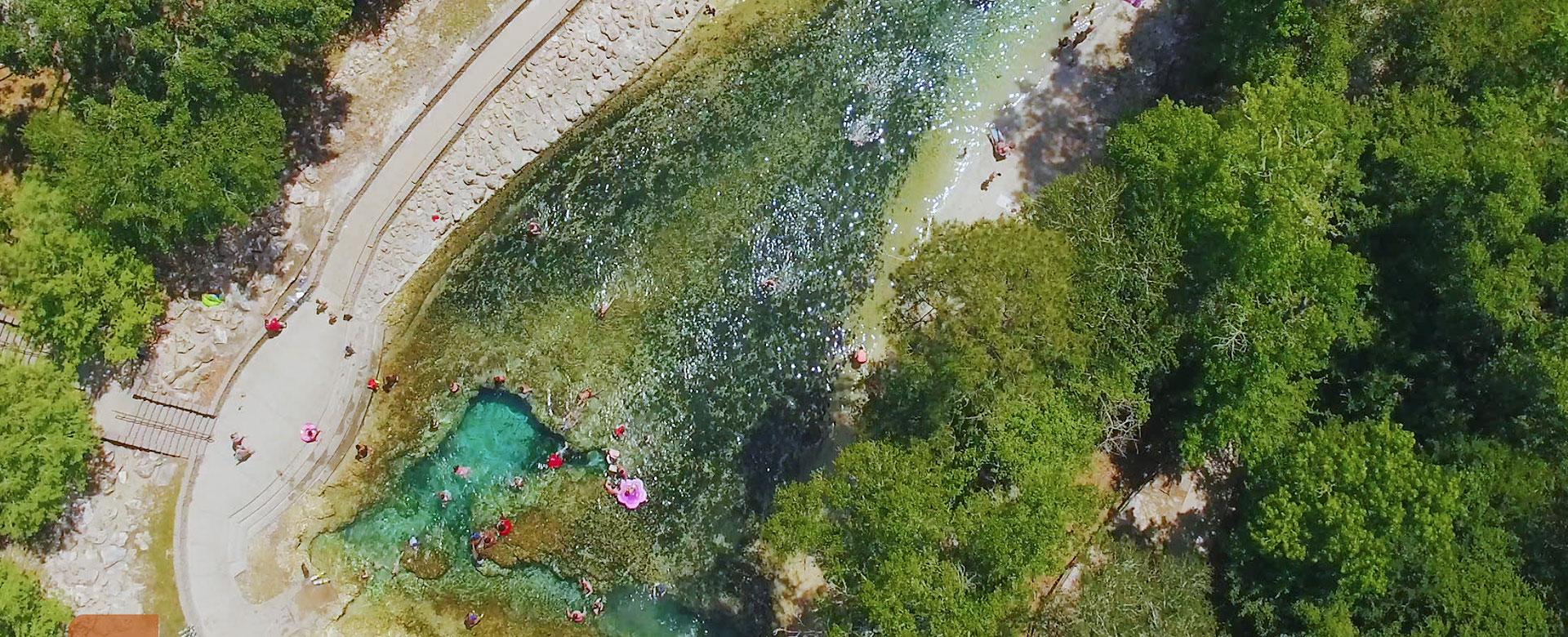 Suwannee River aerial view