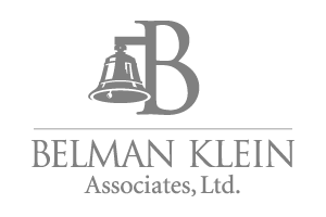 logo with a 'B' and a bell hanging from the left side of it and the words 'BELMAN KLEIN Associates, Ltd.'