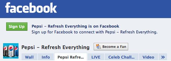 Refreshing Everything Pepsi Facebook Campaign